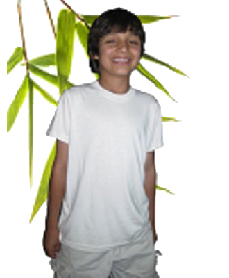 Bambu Dru - Organic Bamboo Cotton Boy's Short Sleeved Tee. Round neck.