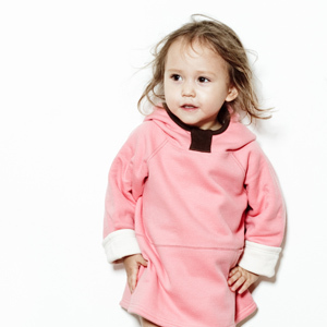 Wobabybasics - Bear Hug Me Hoodie Pink- 6mths. Certified Organic Cotton Kids Clothing
