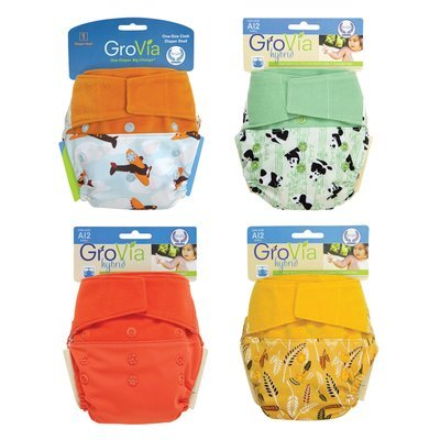 Grovia APLIX HOOK & LOOP AI2 Pack of 4pcs Shell Cloth Diapers