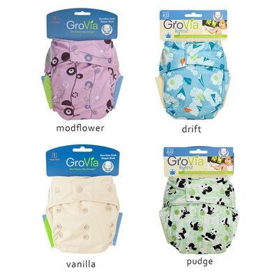 Grovia Snap AI2 Pack of 4pcs Shell Cloth Diapers.