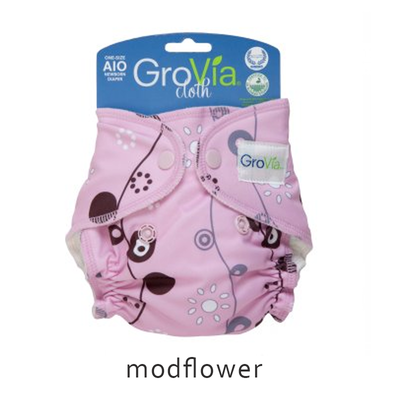 GroVia All-in-One (AIO) newborn - Modflower