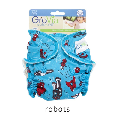GroVia All-in-One (AIO) newborn - Robots