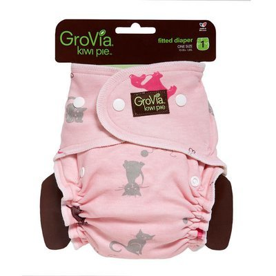 GroVia Newborn Kiwi Pie Fitted - Cats & Dogs Pink. One Size Only - Fits 10-35 Lbs babies. RM 39.00 BUY IT NOW.