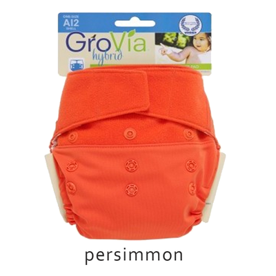 Grovia Aplix Hook and Loop AI2 Diaper Single Shell - Persimmon