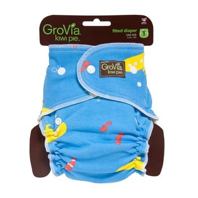 GroVia Newborn Kiwi Pie Fitted Diaper. Yellow Submarine. One Size Only - Fits 10-35 Lbs babies. RM 39.00 BUY IT NOW.