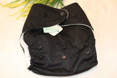 Baby Kangas One-Size Pouch Diaper- Black (Cover only)