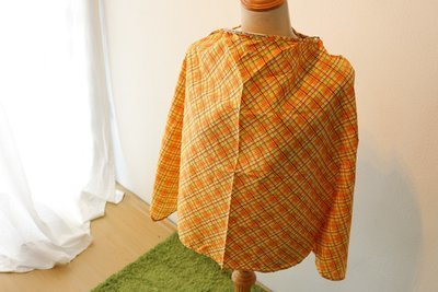 Tiny Tapir Nursing Cover - Orange Plaid