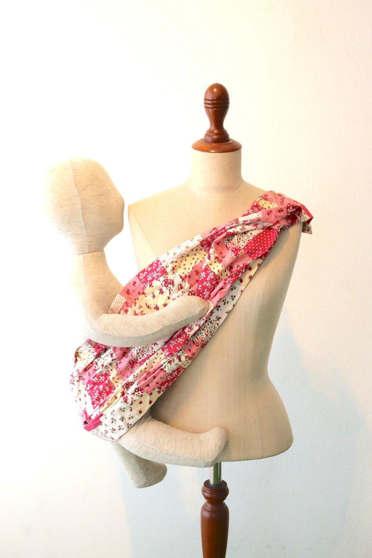 Tiny Tapir Mangtha Sling Carrier - Pink Flower | High Quality Organic Cotton