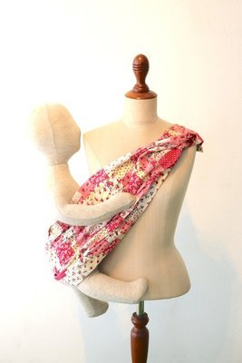 Tiny Tapir Mangtha Sling Carrier - Pink Flower | High Quality Organic Cotton