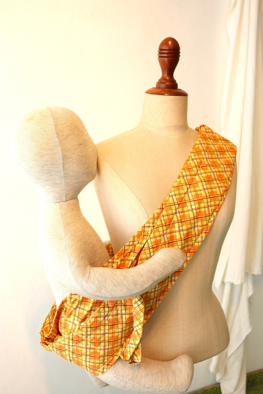 Tiny Tapir Mangtha Sling Carrier - Orange Ceks | High Quality Organic Cotton