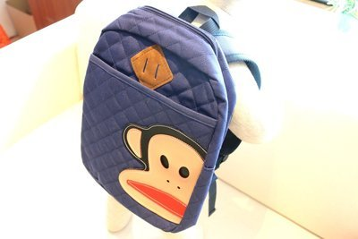 KIDS PRE-SCHOOL BAG MONKEY FACE - Navy Blue