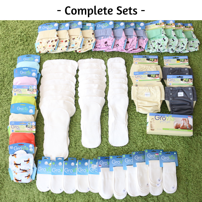 Grovia Complete Set (for Baby Boys & Baby Girls) 22 pieces diaper covers