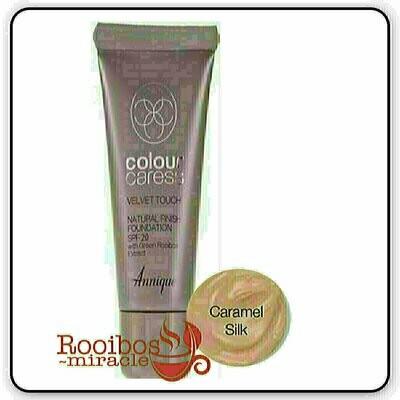 Foundations: Velvet Touch Natural Finish Spf 20 ~ Caramel Silk | Annique