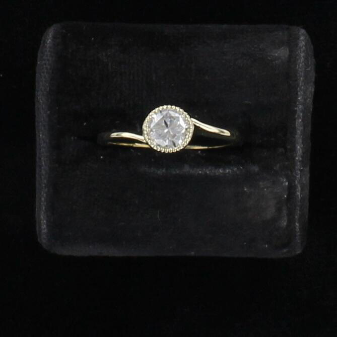 14KT .75 CT ROUND BRILLIANT DIAMOND RING