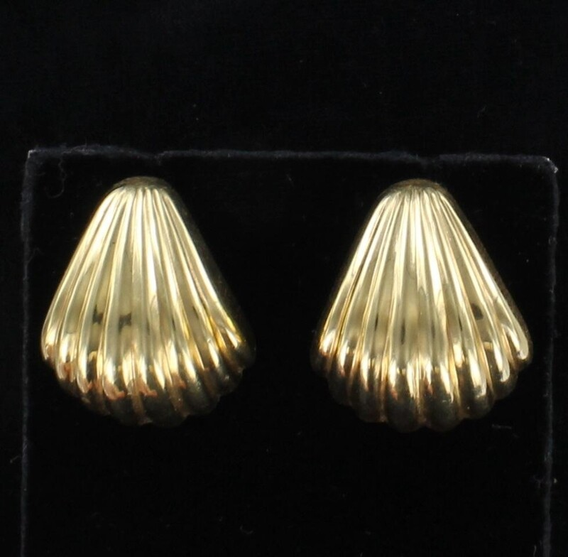 14KT SHELL EARRINGS