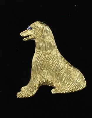 18KT DOG PIN
