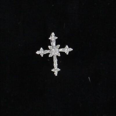 14KT .20 CT TW DIAMOND CROSS