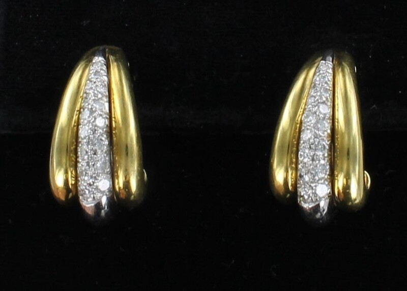 18KT 1.25 CT TW DIAMOND EARRINGS