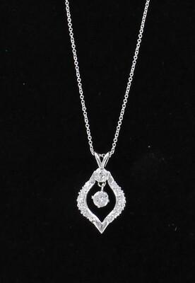 14KT .75 CT TW DIAMOND NECKLACE