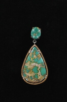 STERLING SILVER WITH BRONZE TURQUOISE PENDANT