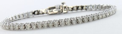 14KT WHITE GOLD 5.75 CT TW DIAMOND LINE BRACELET