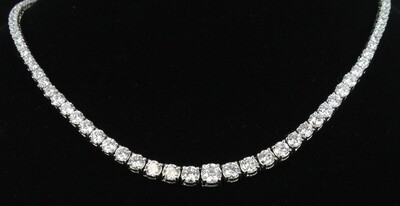 14KT 15.5 CT TW DIAMOND NECKLACE