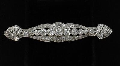 PLATINUM ART DECO DIAMOND PIN