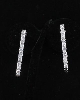 14KTW 5.18 CT TW DIAMOND HOOP EARRINGS