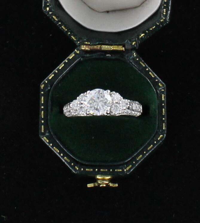 14KT DIAMOND ENGAGEMENT RING