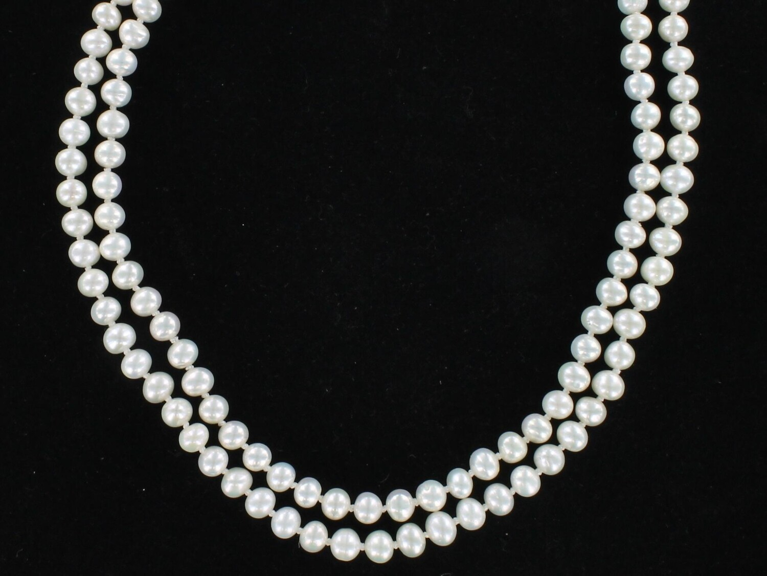 DOUBLE STRAND 6 MM PEARL NECKLACE