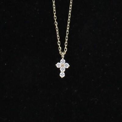 14KTY DIAMOND CROSS