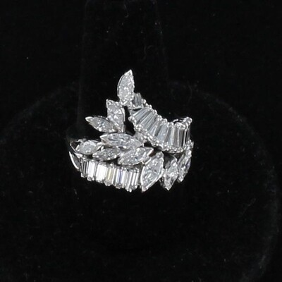 14KTW 2.50 CT TW DIAMOND RING CIRCA 1960