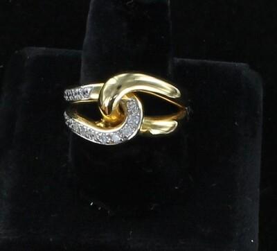 14KT DIAMOND KNOT RING