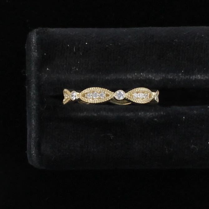 14KTY .38 CT TW DIAMOND ETERNITY BAND, SZ 7