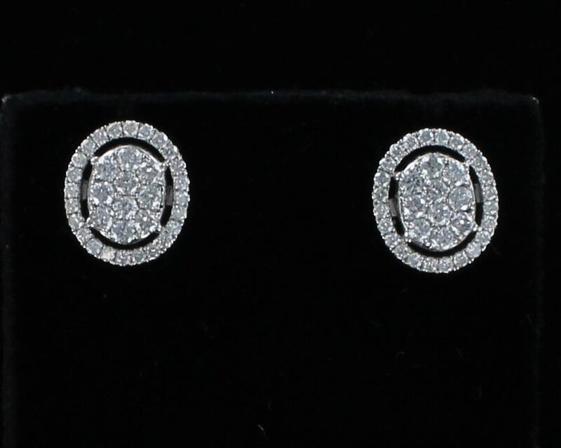 18KT 2.0 CT TW DIAMOND EARRINGS