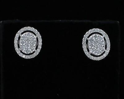 18KT 2.0 CT TW DIAMOND EARRINGS