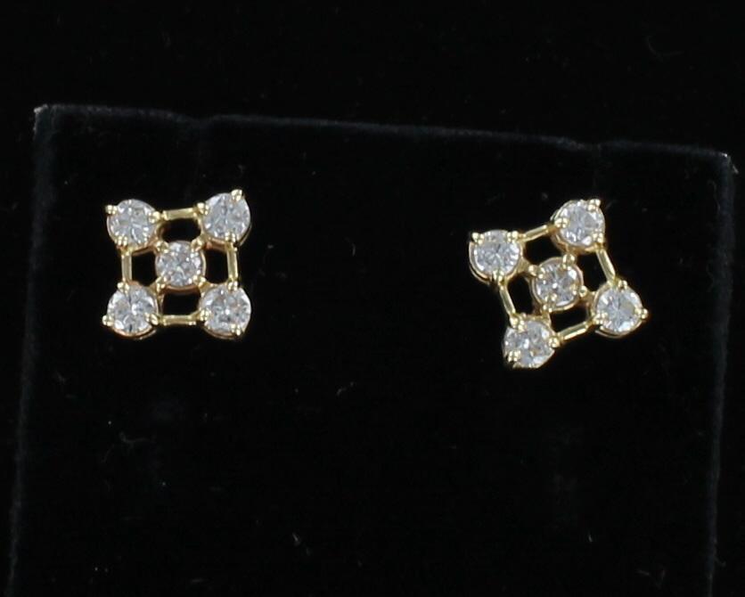 14KTY 1.0 CT TW DIAMOND EARRINGS