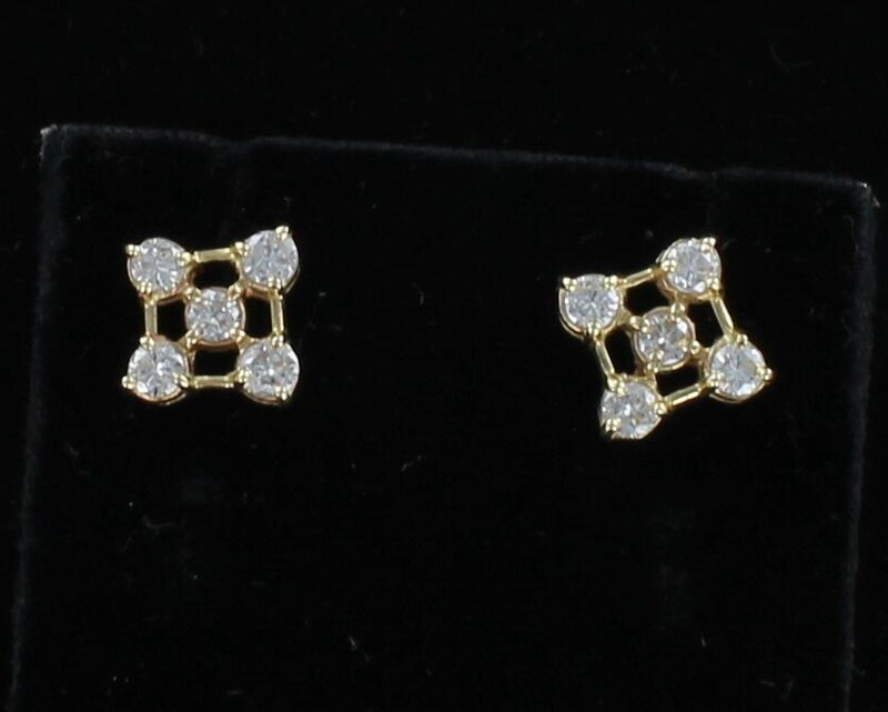 14KTY 1.0 CT TW DIAMOND EARRINGS