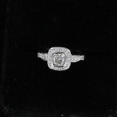 PLATINUM 1.20 CT TW DIAMOND ENGAGEMENT RING