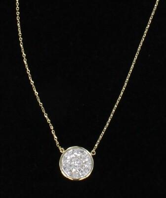 18KT YELLOW GOLD 1.24 CT TW DIAMOND PENDANT
