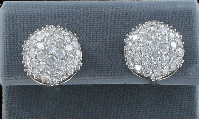 PLATINUM 15.0 CT TW ROUND BRILLIANT DIAMOND EARRINGS