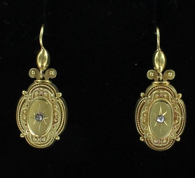 18KT VICTORIAN EARRINGS