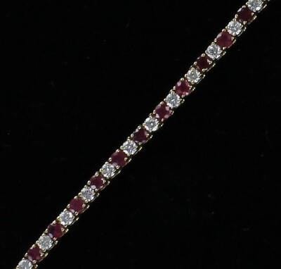 14KTY RUBY AND DIAMOND BRACELET