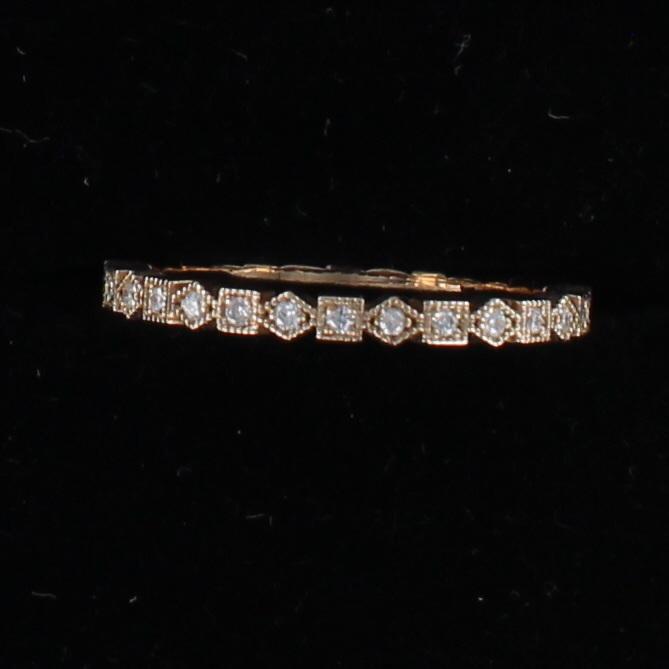 14KT ROSE GOLD .38 CT TW DIAMOND ETRNITY BAND, SZ 7
