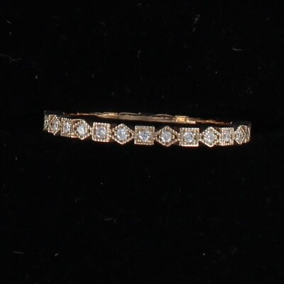 14KT ROSE GOLD .38 CT TW DIAMOND ETRNITY BAND, SZ 7