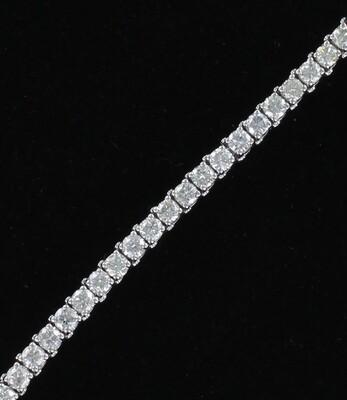 14KT 8.83 CT TW ROUND BRILLIANT DIAMOND BRACELET