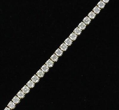 14KT 4.96 CT TW ROUND BRILLIANT DIAMOND BRACELET