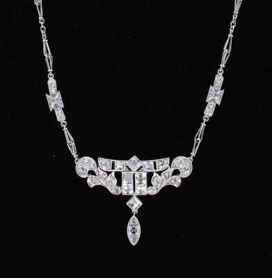 14KTW ART DECO DIAMOND NECKLACE