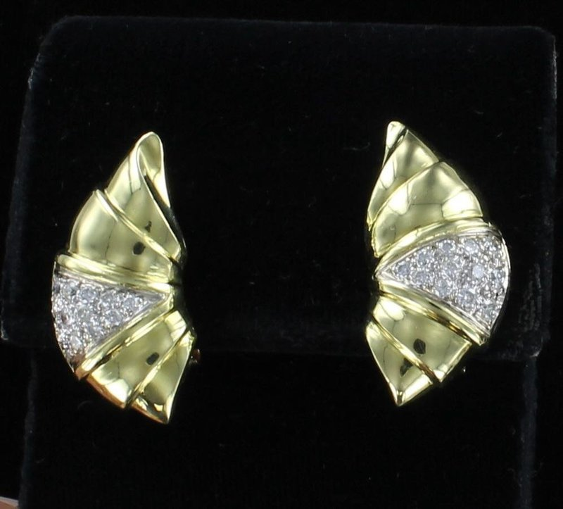 18KT 1.0 CT TW DIAMOND EARRINGS