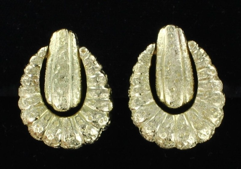 18KT/14KT DOORKNOCKER STYLE EARRINGs